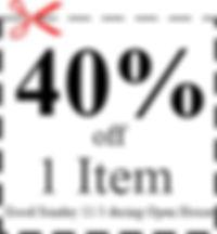 coupon 40 percent off 1 item.jpg