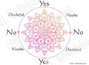 pendulum dowsing chart mandala orange th