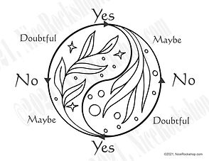 pendulum dowsing chart yin yang leaves t