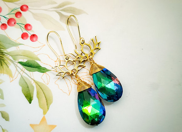 Green Sparkle Earring