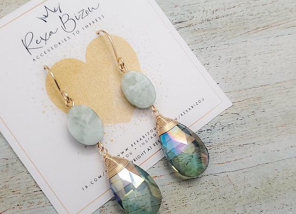 Mint Sparkle Earring
