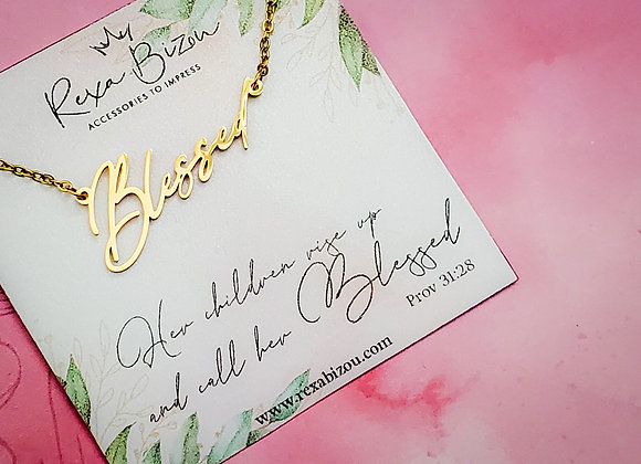 Blessed Horizontal Necklace Mother's Day Edition