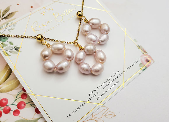 Ring of Pearls Necklace Set