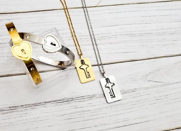 Locket in Love Bracelet and Necklace Set