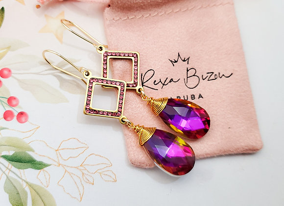Pink Sparkle Earring