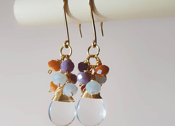 Water Drop Colorful Earring