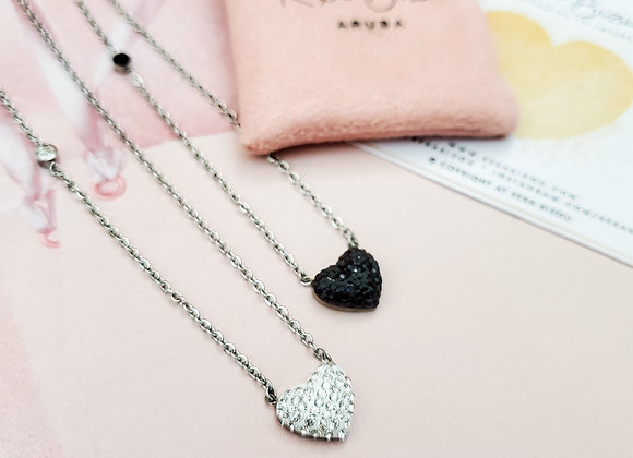 Opposite Love Heart Necklace