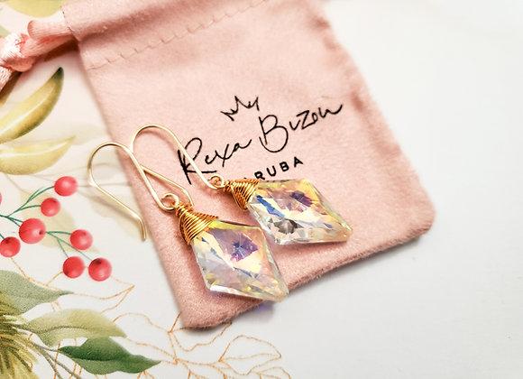 Lozenge Aurora Borealis Earring