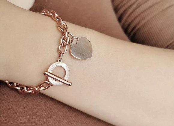 Heart Link Chain Bracelet