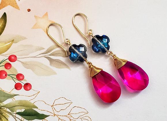 Pretty in Fuchsia Earring