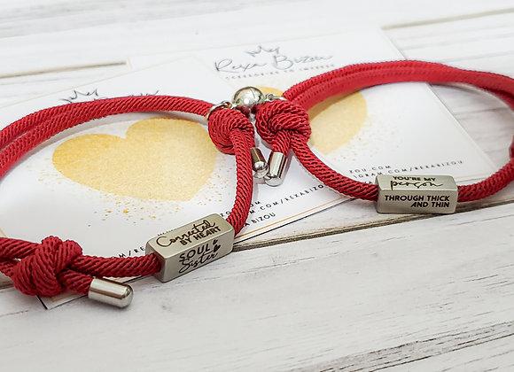 Rope Frienship Bracelets (2pc)