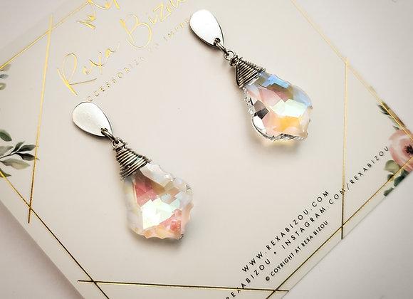 Leaf Crystal Stud Earring