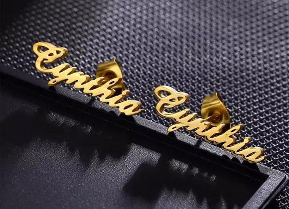 Custom Name Earring Stud