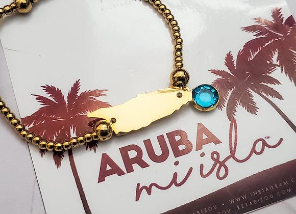 Aruba mi Isla with Birthstone