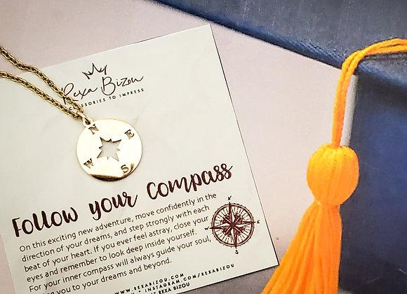 Follow your Compass Necklace
