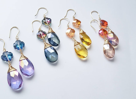 Double Crystal Earring set