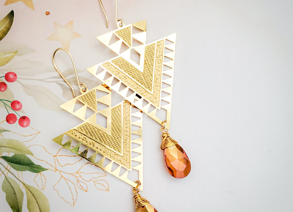 Triangle Large Statement Earring