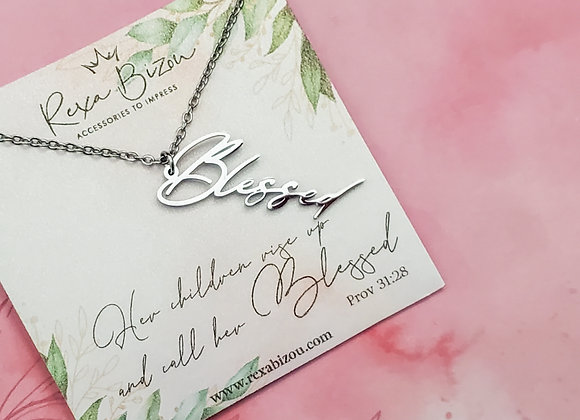 Blessed Vertical Necklace Mother's Day Edition