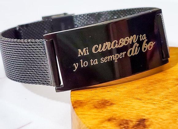 Black Mash Bracelet for Men