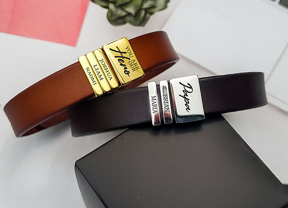 Personalized Luxe Leather Bracelet