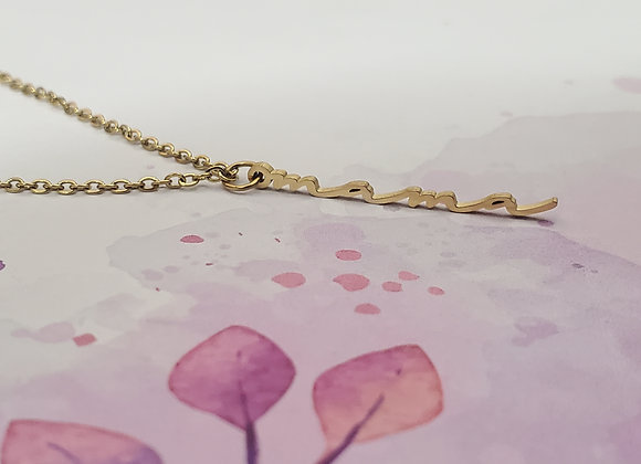 Mama Vertical Necklace