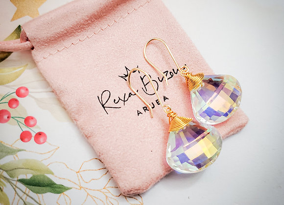 Trilliant Aurora Borealis Earring