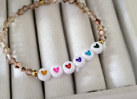 Happy Hearts Crystal Bracelet