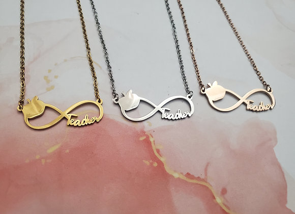 Infinity Teacher Necklace