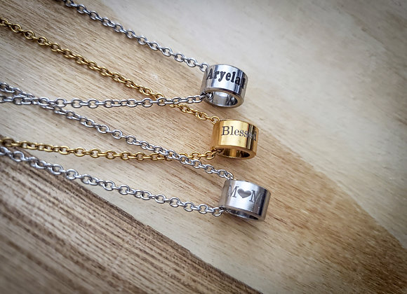 Cylinder Bead Necklace