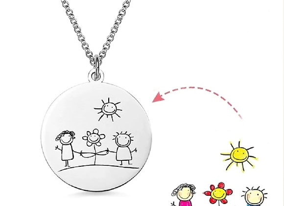 Custom Drawings Dish Necklace