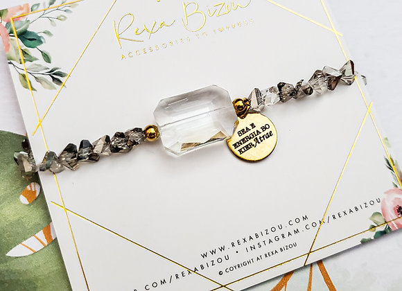 Grey Toned Crystal Bracelet