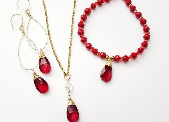Red Drop Crystal Set