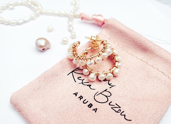 Petit Pearl Earring Hoops