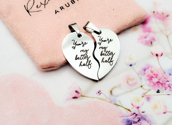 Better Half Heart Necklace (2pc)