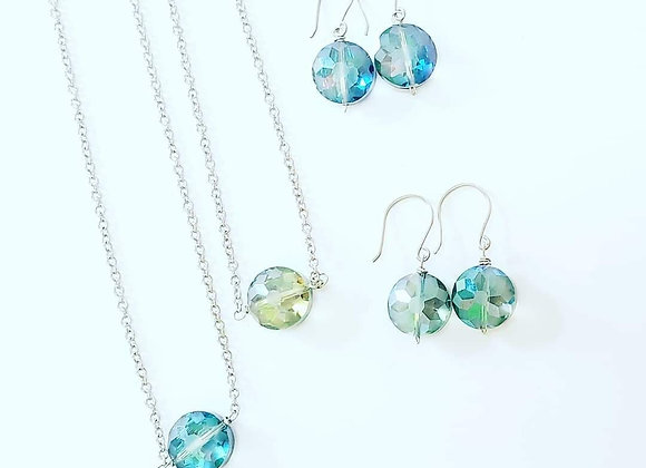 Dot Crystal Necklace Set