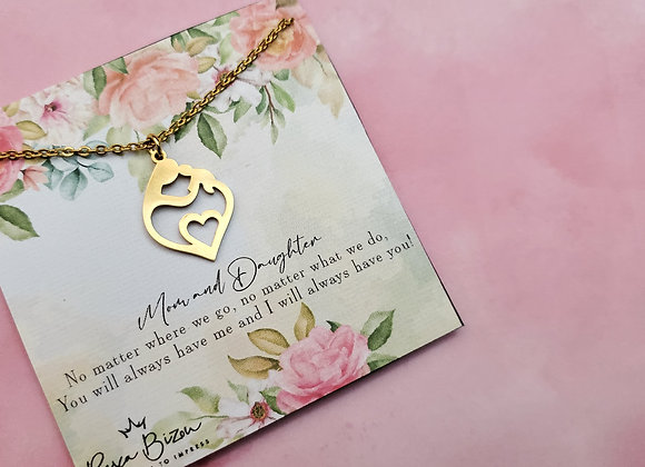 Mom and Daughter Necklace
