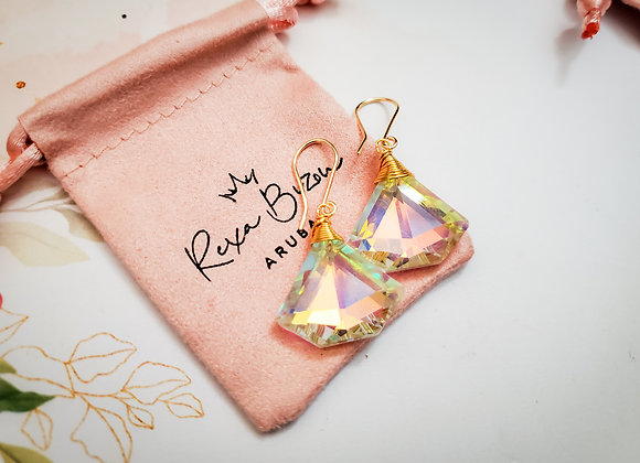 Diamond Aurora Borealis Earring
