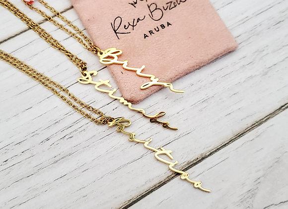 Papiamento Necklace Vertical