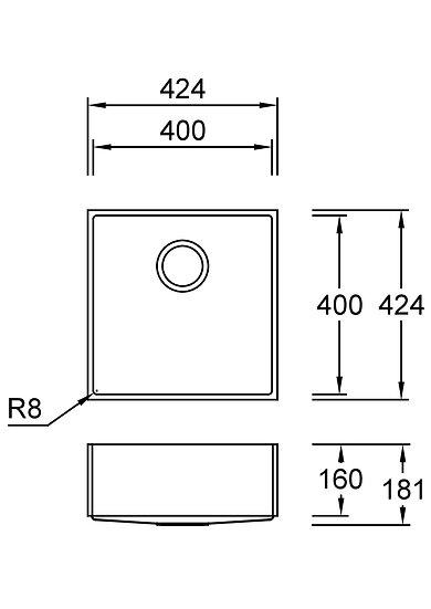 Combi E40-C Sanded