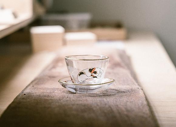 石塚硝子 mono系列盃與豆皿醬料小碟組 招財貓