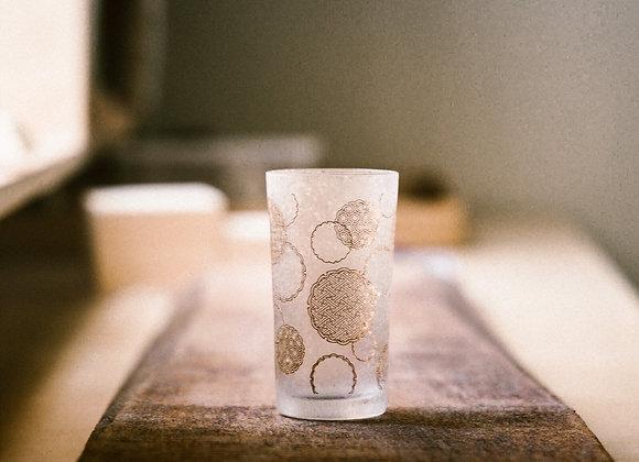 石塚硝子 和小紋系列玻璃杯 雪輪