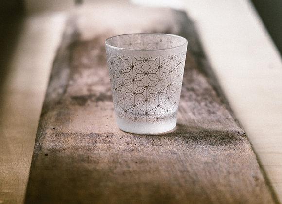 石塚硝子 和小紋系列玻璃杯 麻葉