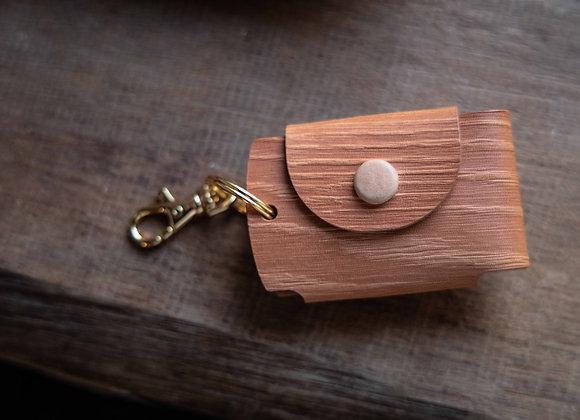 木紋皮革鑰匙皮套