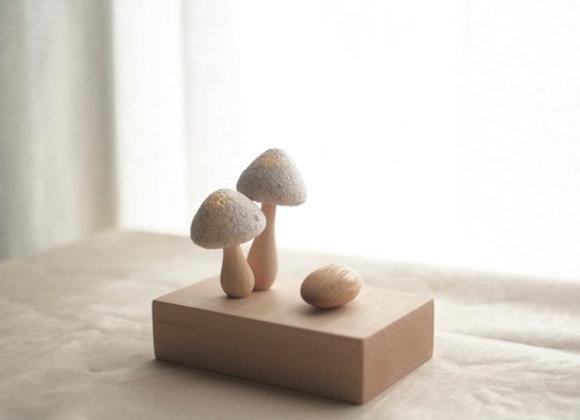 蘑菇家族 互動式小夜燈