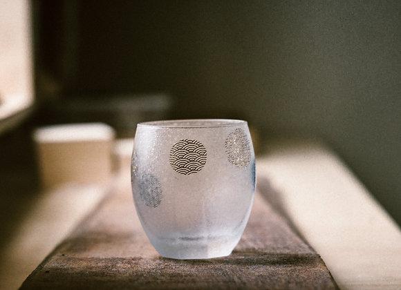 石塚硝子 丸紋玻璃杯 日月對杯