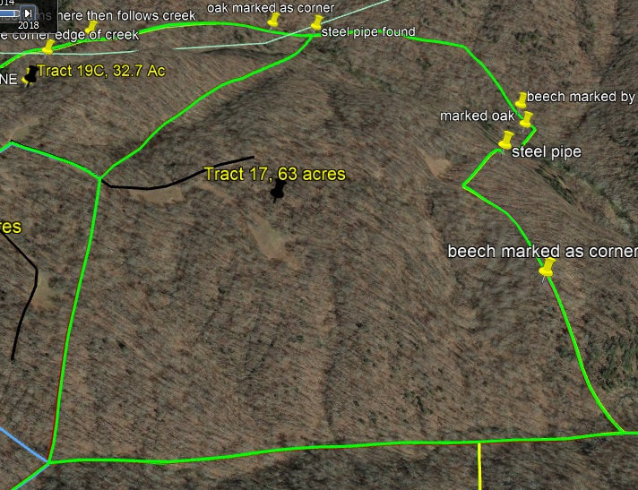 Tract 17 deer and turkey hunting land for sale by KY Whitetail Land Co Properties in Kentucky.
