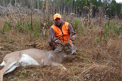 This is a picture of the King 8 buck, a great 8 pointer killed by Bryan Rizor.