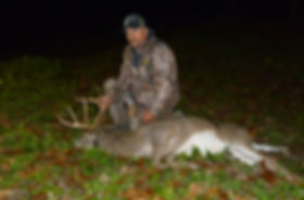 This is a picture of a 13 point buck killed by Kink on a guided whitetail deer hunt.
