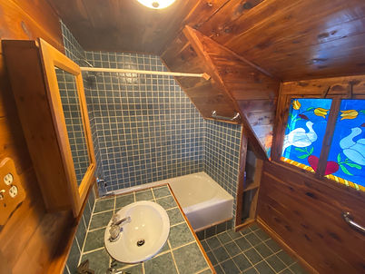Second bathroom picture of the Rocky Hill Rd farmhouse for sale.