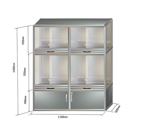 клетка-витрина КВ-24 1400-1100-500 (2).j
